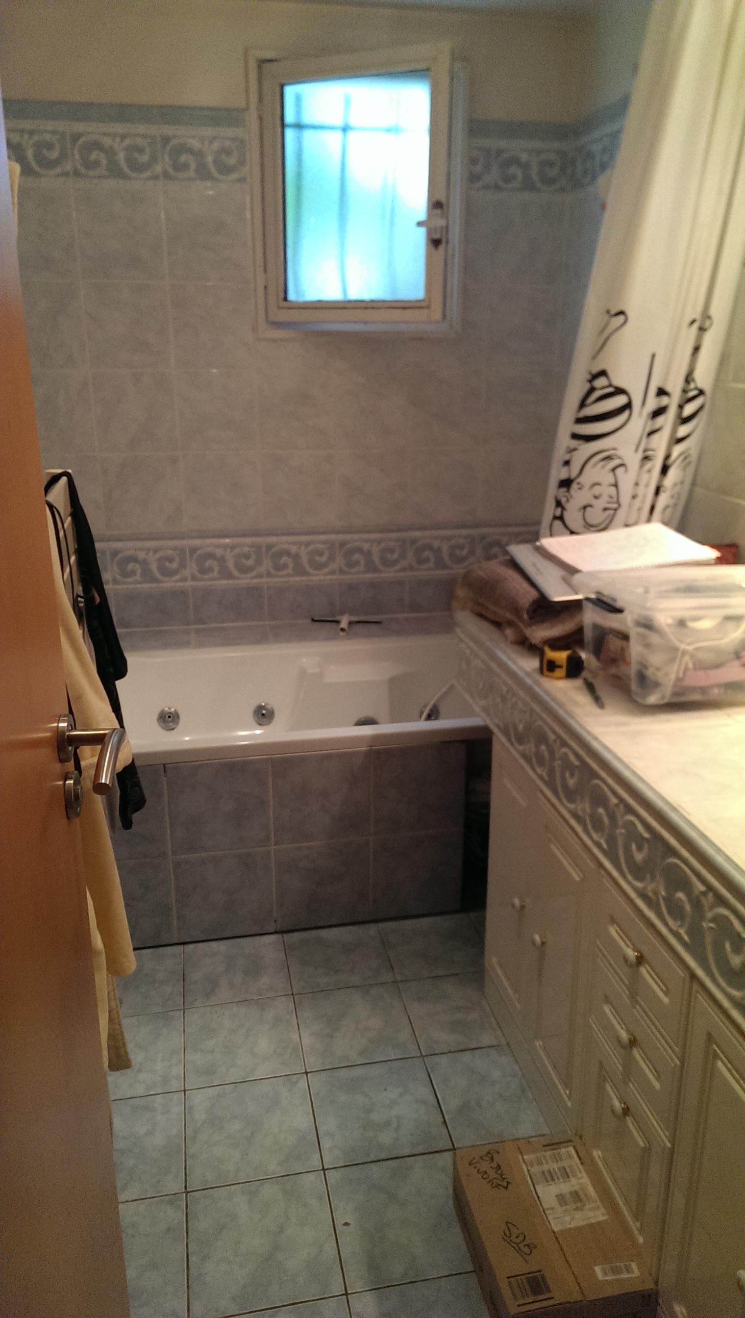 Carrelage Sol Avant Ou Apres Receveur rénovation d'une salle de bain à la ferté alais - sanitaire